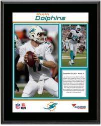 Miami Dolphins 3-0 Start Sublimated 10.5'' x 13'' Plaque - Mounted Memories
