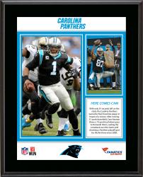 "Carolina Panthers Comeback Win Over  New Orleans Saints 12/22/13 Sublimated 10.5"" x 13"" Plaque"