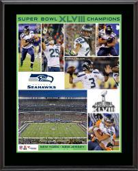 Seattle Seahawks Super Bowl XLVIII Champions Sublimated 10.5x13 Plaque