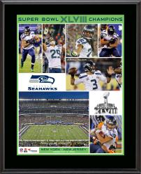 Seattle Seahawks Super Bowl XLVIII Champions Sublimated 10.5x13 Plaque