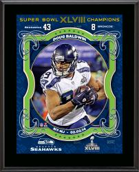 "Doug Baldwin Seattle Seahawks Super Bowl XLVIII Champions Sublimated 10.5"" x 13"" Plaque"