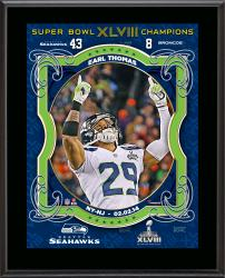Earl Thomas Seattle Seahawks Super Bowl XLVIII Champions Sublimated 10.5'' x 13'' Plaque - Mounted Memories