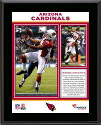 Arizona Cardinals Comeback Win Over Seattle Seahawks 12/22/13 Sublimated 10.5'' x 13'' Plaque - Mounted Memories
