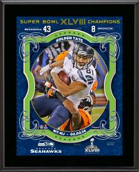 Golden Tate Seattle Seahawks Super Bowl XLVIII Champions Sublimated 10.5'' x 13'' Plaque - Mounted Memories