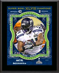 Marshawn Lynch Seattle Seahawks Super Bowl XLVIII Champions Sublimated 10.5'' x 13'' Plaque - Mounted Memories