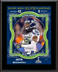 Richard Sherman Seattle Seahawks Super Bowl XLVIII Champions Sublimated 10.5'' x 13'' Plaque - Mounted Memories