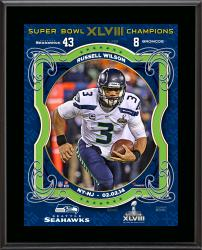 Russell Wilson Seattle Seahawks Super Bowl XLVIII Champions Sublimated 10.5'' x 13'' Plaque - Mounted Memories
