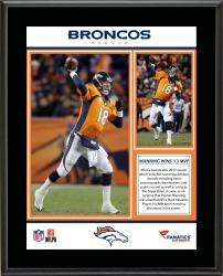 Peyton Manning Denver Broncos 2013 NFL MVP Sublimated 10.5'' x 13'' Plaque - Mounted Memories