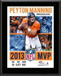 Peyton Manning Denver Broncos 2013 NFL MVP Sublimated 10.5'' x 13'' 4-Photo Plaque - Mounted Memories