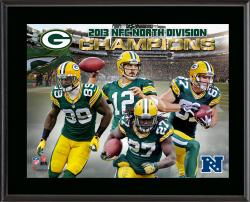 Green Bay Packers 2013 NFC North Champs Sublimated 10.5'' x 13'' Plaque - Mounted Memories
