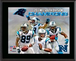 Carolina Panthers 2013 NFC South Champs Sublimated 10.5'' x 13'' Plaque - Mounted Memories