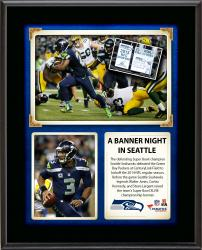 Seattle Seahawks Banner Night vs. the Green Bay Packers Sublimated 10.5'' x 13'' Plaque