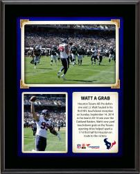 "J.J. Watt Houston Texans Records First NFL touchdown reception 10"" X 13"" Sublimated Plaque"