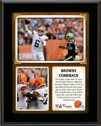 """Cleveland Browns Win Over New Orleans Saints 10"""" X 13"""" Sublimated Plaque"""