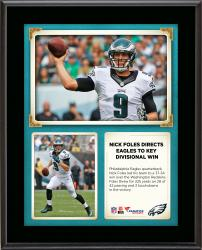 "Nick Foles Philadelphia Eagles Throws for 325 Yards and 3 Touchdowns In Win Over the Washington Redskins 10"" X 13"" Sublimated"
