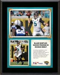 "Blake Bortles Jacksonville Jaguars Throws For 2 Touchdowns In Rookie Debut 10"" X 13"