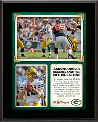 "Aaron Rodgers Green Bay Packers Becomes The Fourth Fastest Quarterback In NFL History To Reach 25,000 Yards Passing 10"" X 13"" Sublimated"