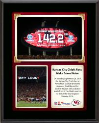 Kansas City Chiefs Fans Break The Guinness World Record For Loudest Stadium vs. New England Patriots Sublimated 10.5'' x 13'' Plaque