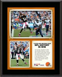 "Cleveland Browns Comeback Win Is the Largest Regular Season By A Road Team In NFL History 10"" X 13"" Sublimated Plaque"