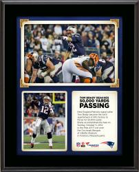 "Tom Brady Becomes The Sixth Quarterback In NFL History to Reach 50,000 Yards Passing 10"" X 13"" Sublimated Plaque"