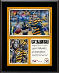 "Ben Roethlisberger Pittsburgh Steelers Sets Team Records For Single-Game Pass Yards and Pass Touchdowns 10"" X 13"" Sublimated Plaque"