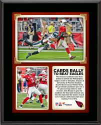 "Arizona Cardinals Rally To Beat The Philadelphia Eagles With Late Touchdown Pass And Last Second Red Zone Stop 10"" X 13"" Sublimated Plaque"