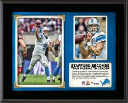 "Matthew Stafford Detroit Lions Becomes Franchise Passing Touchdown Leader In Win Over The Atlanta Falcons 10"" X 13"" Sublimated Plaque"