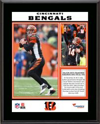 Andy Dalton Cincinnati Bengals Single-Season Franchise Passing Yards & Touchdowns Record Sublimated 10.5'' x 13'' Plaque - Mounted Memories