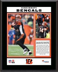 "Andy Dalton Cincinnati Bengals Single-Season Franchise Passing Yards & Touchdowns Record Sublimated 10.5"" x 13"" Plaque"