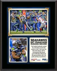 "The Seattle Seahawks Set a Franchise Record for Rushing Yards in a Win Over the New York Giants 10"" x 13"" Sublimated Plaque"