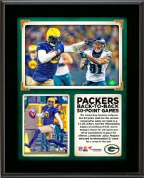 "The Green Bay Packers Scored 50-points In Back-To-Back Games For the First Time In Franchise History in a 53-20 Win Over the Philadelphia Eagles 10"" x 13"" Sublimated Plaque"