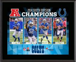 Indianapolis Colts 2014 AFC South Champs Framed 10.5'' x 13'' Sublimated Plaque