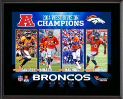 Denver Broncos 2014 AFC West Champs 10'' x 13'' Sublimated Plaque