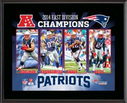 New England Patriots 2014 AFC East Champs 10'' x 13'' Sublimated Plaque