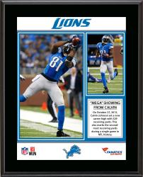Calvin Johnson Detroit Lions 329 Receiving Yards Record Sublimated 10.5'' x 13'' Plaque - Mounted Memories
