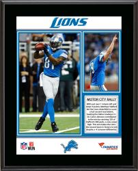 Detroit Lions Comeback Win Over Dallas Cowboys 10/27/13 Sublimated 10.5'' x 13'' Plaque - Mounted Memories