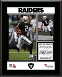 "Terrelle Pryor Oakland Raiders 93 Yard QB Touchdown Run Record Sublimated 10.5"" x 13"" Plaque"