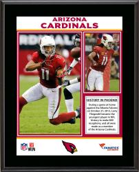 Larry Fitzgerald Arizona Cardinals 800 Career Receptions Record Sublimated 10.5'' x 13'' Plaque - Mounted Memories