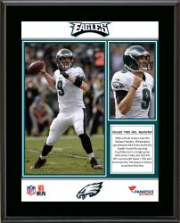 Nick Foles Philadelphia Eagles 7 TDS Sublimated 10.5'' x 13'' Plaque - Mounted Memories