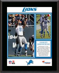 Calvin Johnson Detroit Lions Franchise Touchdown Reception Record Sublimated 10.5'' x 13'' Plaque - Mounted Memories