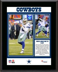 Tony Romo Dallas Cowboys 200th Career Passing Touchdowns Club Sublimated 10.5'' x 13'' Plaque - Mounted Memories