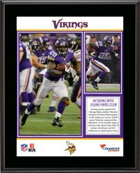 Adrian Peterson Minnesota Vikings 10,000 Rushing Yards Club Sublimated 10.5'' x 13'' Plaque - Mounted Memories