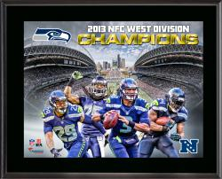 Seattle Seahawks 2013 NFC West Champs Sublimated 10.5'' x 13'' Plaque - Mounted Memories