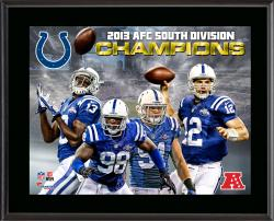 Indianapolis Colts 2013 AFC South Champs Sublimated 10.5'' x 13'' Plaque - Mounted Memories