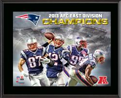 New England Patriots 2013 AFC East Champs Sublimated 10.5'' x 13'' Plaque - Mounted Memories