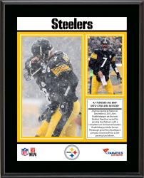 "Ben Roethlisberger Pittsburgh Steelers Career Franchise Touchdown Passing Record Sublimated 10.5"" x 13"" Plaque"