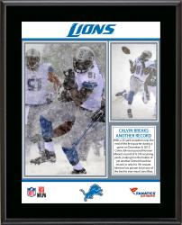 Calvin Johnson Detroit Lions Franchise Career Receiving Yardage Record Sublimated 10.5'' x 13'' Plaque - Mounted Memories