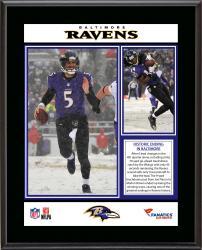 "Baltimore Ravens 12/8/13 Comeback Victory Against Minnesota Vikings Sublimated 10.5"" x 13"" Plaque"