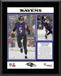 "Baltimore Ravens 12/8/13 Comeback Victory Against Minnesota Vikings Sublimated 10.5"" x 13"" Plaque"