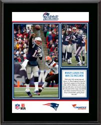 New England Patriots 12/18/13 Comeback Victory Against Cleveland Browns Sublimated 10.5'' x 13'' Plaque - Mounted Memories